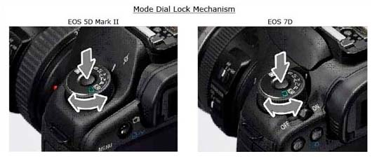 Dial Lock for Canon 5D Mk II and EOS 7D