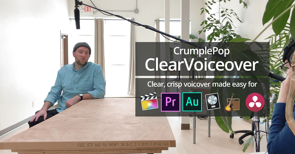 ClearVoiceover - Clear, crisp voiceover made easy | CrumplePop