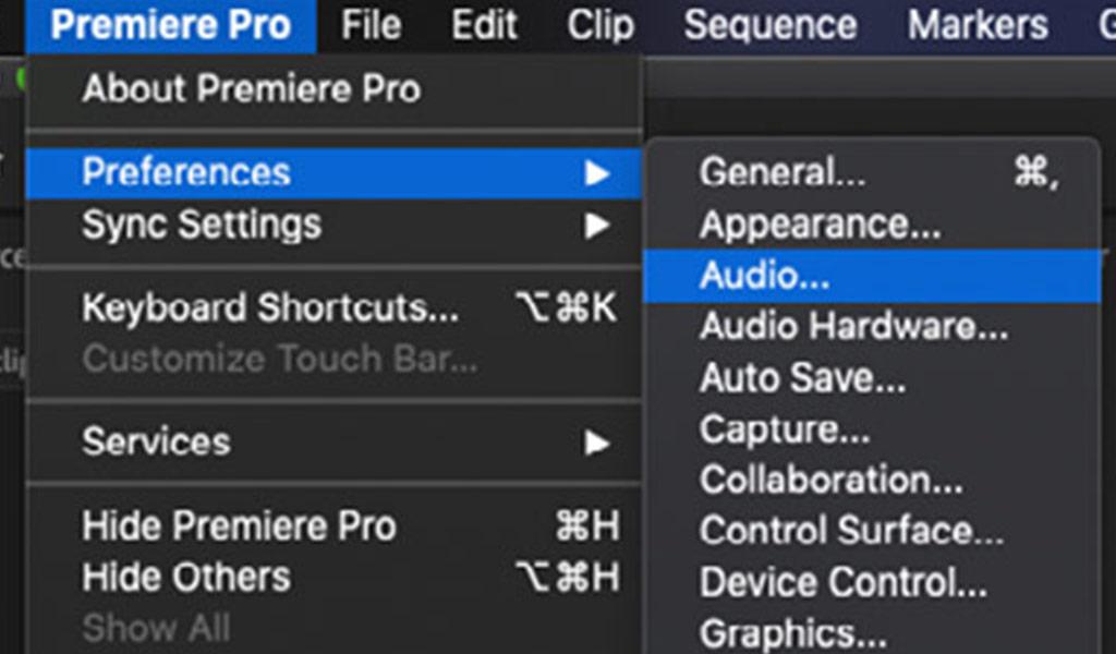 Premiere Audio Preferences
