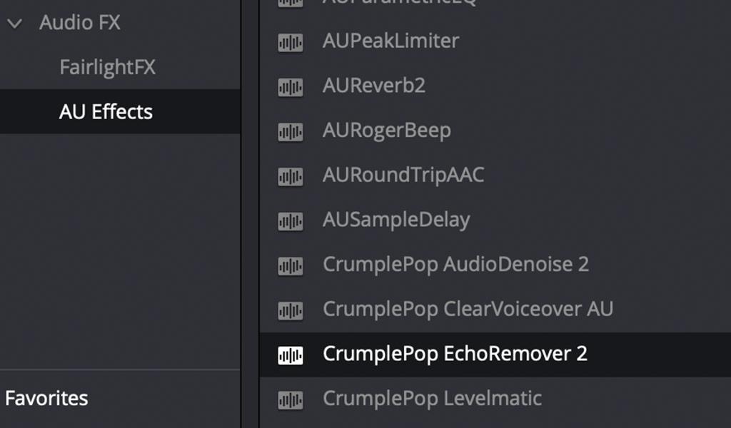 Resolve Audio FX AU